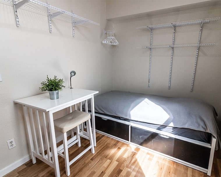 Modern furnished room for rent in heart of SoMa with all utilities included
